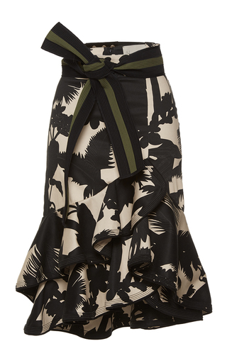 Medium johanna ortiz print santander belted fluted skirt