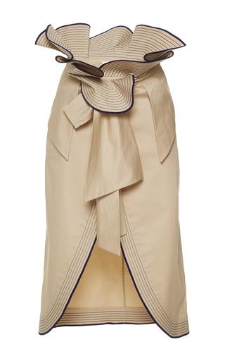 Medium johanna ortiz tan farallones paperbag wrap skirt