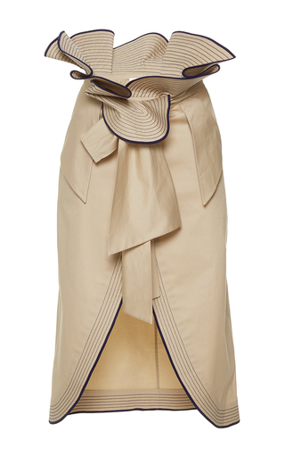 Medium johanna ortiz tan farallones paperbag wrap skirt