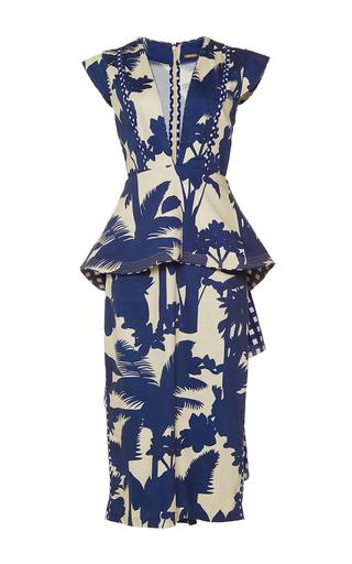 Medium johanna ortiz print palmtree shadow peplum dress