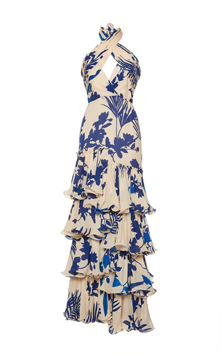 Medium johanna ortiz print magdalena twist halter belted dress