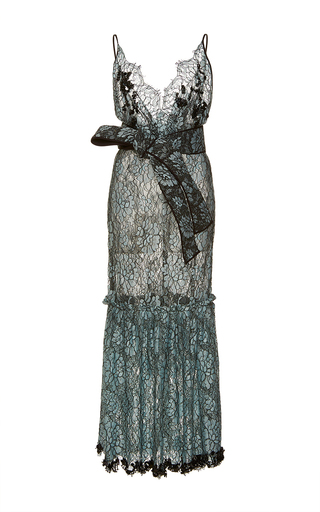 Medium johanna ortiz blue frontera belted lace dress