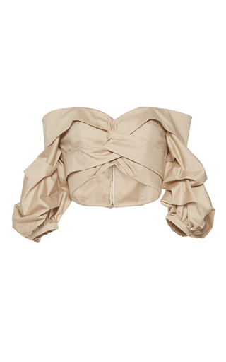 Medium johanna ortiz tan mestizo off the shoulder puff sleeve top