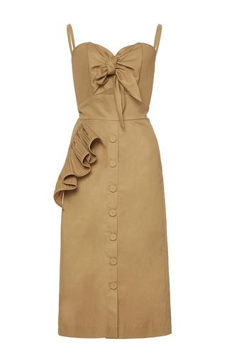 Medium johanna ortiz brown soledad bow front pencil dress
