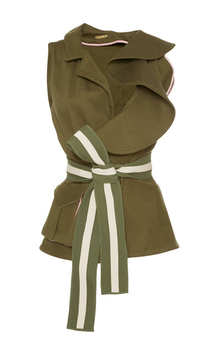 Medium johanna ortiz green serrania ruffled vest