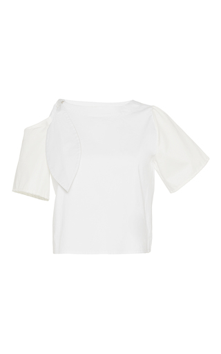 Medium johanna ortiz white la sierra bow cold shoulder t shirt