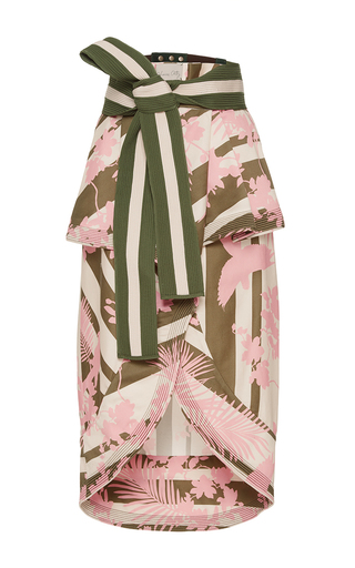 Medium johanna ortiz print madidi belted skirt
