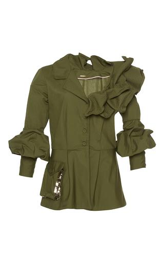Medium johanna ortiz green paz embellished belted jacket