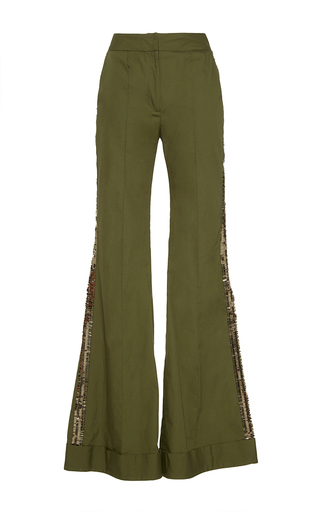 Medium johanna ortiz green embera flared pants