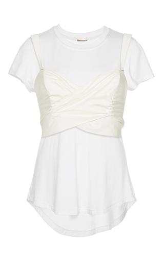 Medium johanna ortiz white jardin sweetheart combination blouse and tee