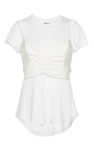 Medium johanna ortiz white jardin sweetheart combination blouse and tee