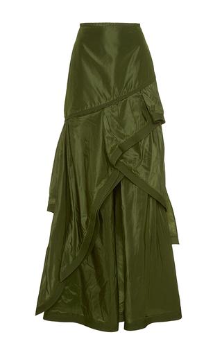 Medium johanna ortiz green guaduas tiered long skirt