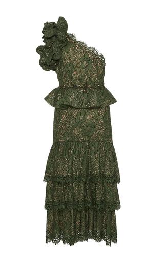 Medium johanna ortiz green el bosque embellished lace dress