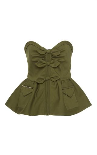 Medium johanna ortiz green comoros embellished strapless top