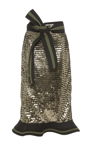 Medium johanna ortiz metallic madre agua sequin embellished skirt