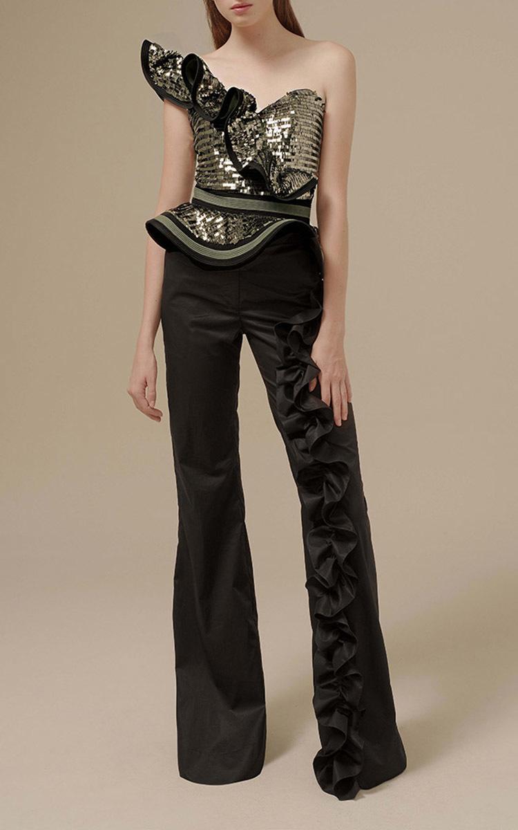 Magellan Ruffle Embellished Pants By Johanna Ortiz Moda