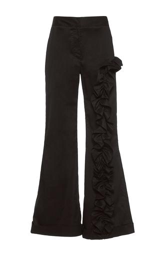 Medium johanna ortiz black magellan ruffle embellished pants