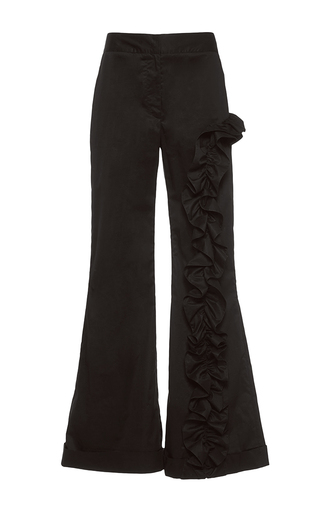 Medium johanna ortiz black magellan ruffle embellished pants