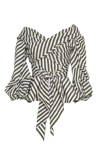 Medium johanna ortiz stripe santa rosa wrap shirt