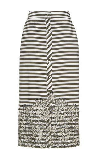 Medium johanna ortiz stripe tanzania pencil skirt