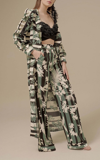Medium johanna ortiz black zambia embellished top