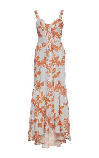 Medium johanna ortiz print playa de belen linen long dress