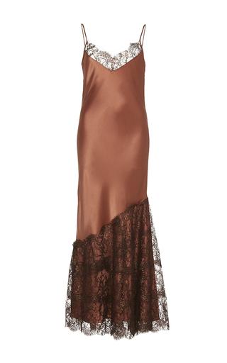 Medium johanna ortiz pink la maria lace embellished slip dress