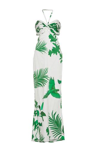 Medium johanna ortiz print m o exclusive selva halter dress