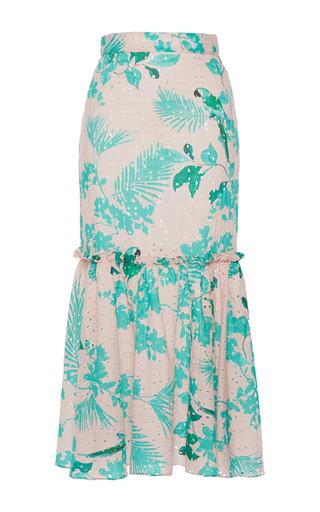 Medium johanna ortiz print m o exclusive vichada fluted skirt