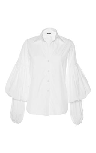 Medium johanna ortiz white m o exclusive san isidoro puff sleeve top