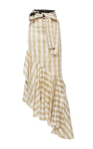 Medium johanna ortiz plaid m o exclusive playa bonita asymmetrical skirt