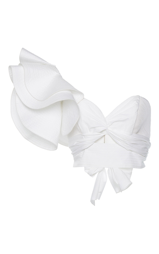 Medium johanna ortiz white m o exclusive cleopatra one shoulder top