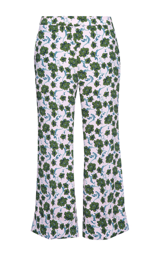 Medium parden s pink pave printed flared trousers