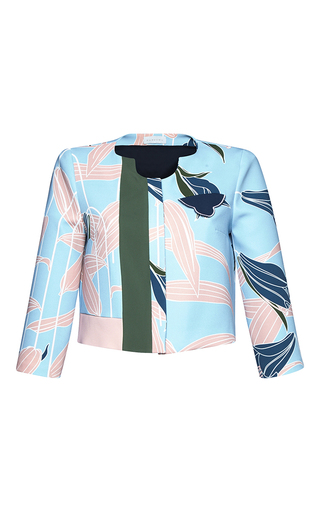 Medium parden s blue viggo printed cropped jacket