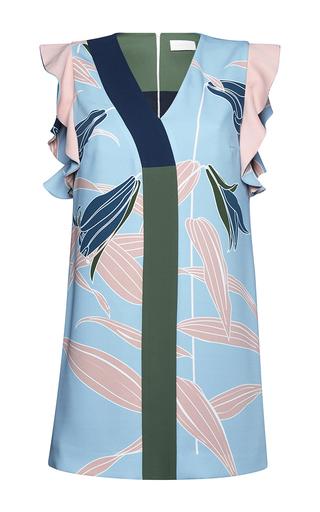 Medium parden s blue nablia ruffle trimmed mini dress