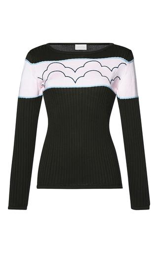 Medium parden s dark grey malka ribbed embroidered sweater