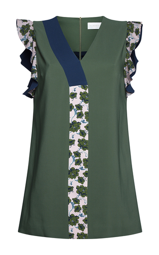 Medium parden s green nablia ruffle trimmed mini dress 2