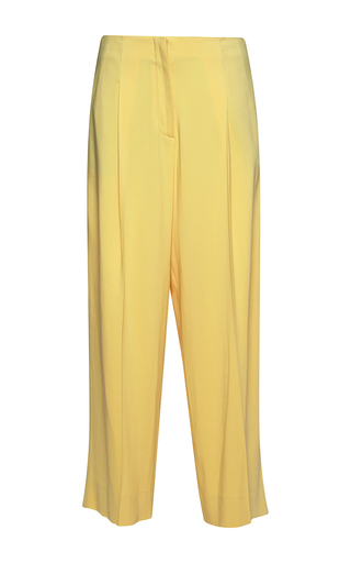 Medium parden s yellow yok straight fit cropped trousers