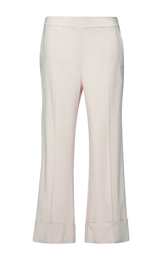 Medium parden s white pave flared trousers