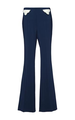 Medium parden s navy tarfon high waist flared trousers