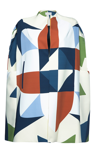 Medium parden s multi mira printed cape