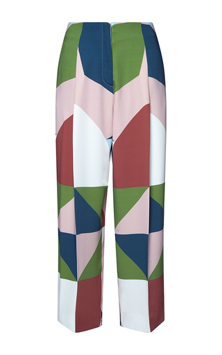 Medium parden s multi yok multi straight fit cropped trousers