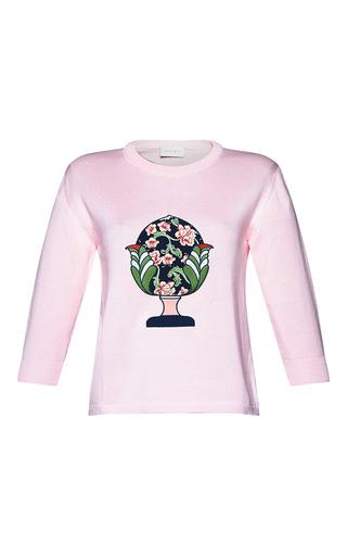 Medium parden s pink ariela embroidered logo sweater