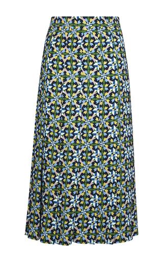 Medium parden s print pleated esha printed midi skirt