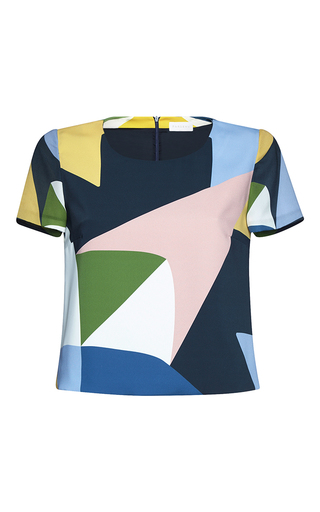 Medium parden s multi nenia short sleeve printed top