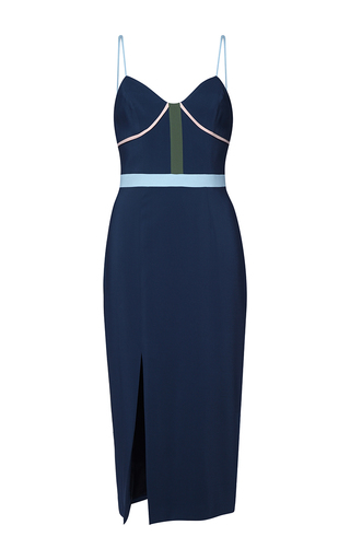 Medium parden s navy caleb color block slip dress