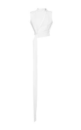 Medium mulhier white cutout sleeveless top
