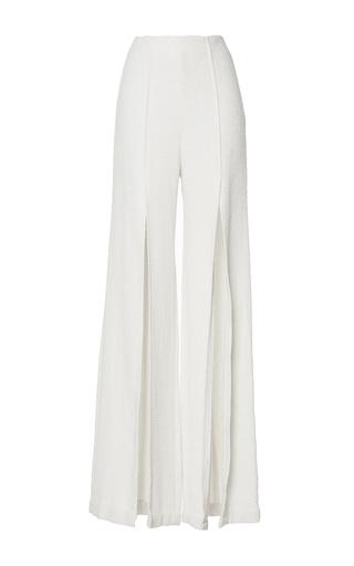 Medium mulhier white high waisted front split pants