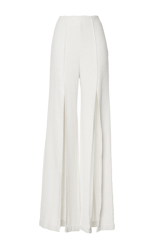Medium mulhier white high waisted front split pants