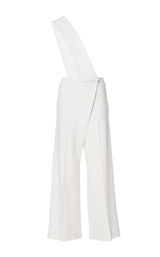 Medium mulhier white wool crepe cropped jumpsuit